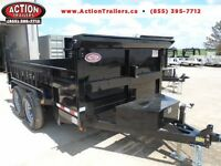 7 TON DUMP TRAILER -WITH THE MOST STANDARD FEATURES $7395