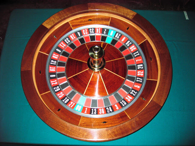 30 Inch Solid Mahogany Roulette Wheel Made in the USA by ACEM CASINO SUPPLIES