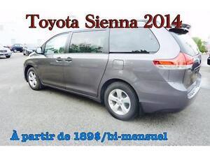 2014 Toyota Sienna. À PARTIR DE 189$/BI-MENSUEL 100 % APPROUVÉ