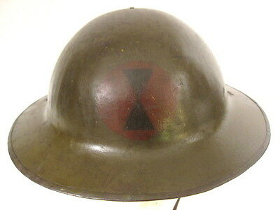 Used, WWI US Army AEF M1917 Helmet w/Liner Hand Painted - 7th Infantry Division Emblem for sale  Henderson
