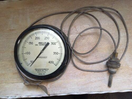 Vintage Moeller dial thermometer industrial boiler gauge steampunk