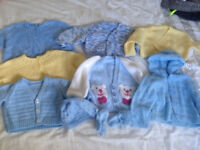 Hand knitted baby cardigan bundle