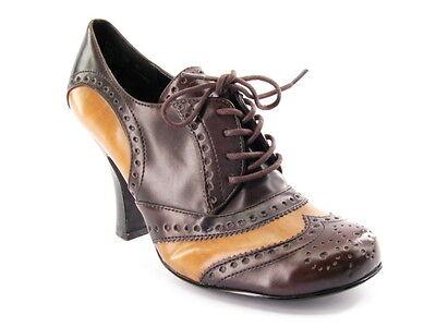 (New BONGO Women Ankle Pump High Heel Lace Up Oxford Casual Comfort Shoe Sz 7 M)
