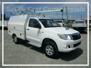 2013 Toyota Hilux KUN26R MY12 SR White 5 Speed Manual Cab Chassis Pakenham Cardinia Area Preview