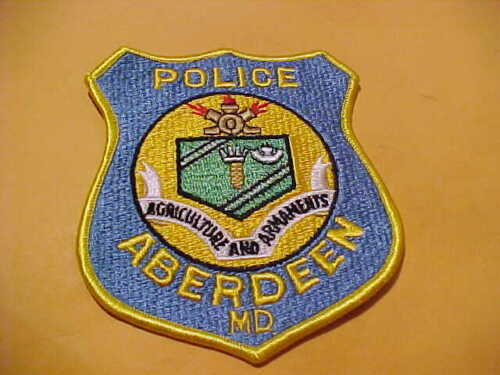 ABERDEEN MARYLAND POLICE PATCH SHOULDER SIZE UNUSED TYPE 2