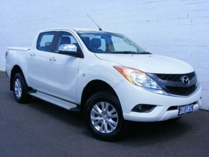 2014 Mazda BT-50 UP0YF1 GT White 6 Speed Sports Automatic Utility Devonport Devonport Area Preview