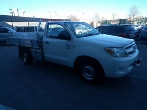 2008 Toyota Hilux TGN16R MY08 Workmate 4x2 White 5 Speed Manual Cab Chassis Fyshwick South Canberra Preview