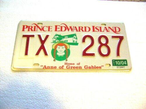 Rare 2004 PRINCE EDWARD ISLAND PEI ANNE of GREEN GABLES Passenger License Plate