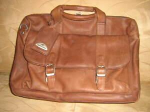Porte-document brun en cuir véritable de marque ''Samsonite''