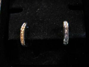 Diamants et or blanc 14k ~~ 14k white gold & diamond earrings