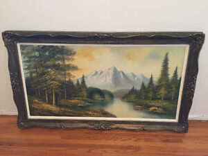 Amazing antique landscape painting - must see!!