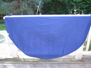 IKEA circular blue cotton table cloth- $5
