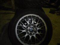 "BMW 16"" ALLOY WHEELS x 4 - £140"