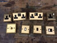 Brass switches and sockets.