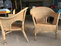 2 Wicker Chairs good condition