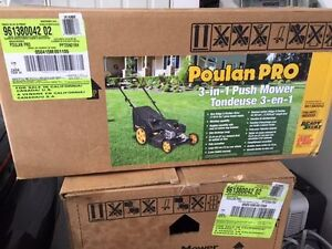 NEW IN BOX Poulan Pro 163 cc, 21 in. 3-in-1 Push Lawnmower