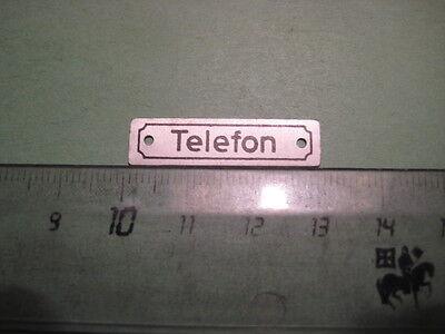 "5)  Radio Alu Schild  "" Telefon ""  -  bei Fitek Audio"