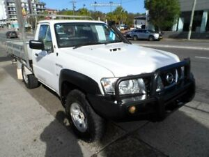 2012 Nissan Patrol MY11 Upgrade DX (4x4) White 5 Speed Manual Leaf Cab Chassis Rockdale Rockdale Area Preview