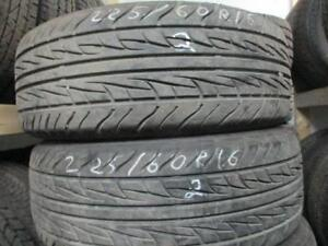 225/60R16  3 MATCHING USED UNIROYAL A/S TIRES