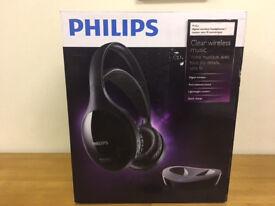 Brand New Philips SHD8600UG Headband Wireless Headphones - Black