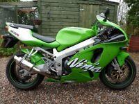 Kawasaki ZX7R. New M.O.T. Low mileage. Green.