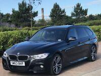 BMW 3 SERIES 2.0 320I XDRIVE M SPORT TOURING 5d AUTO 181 BHP (black) 2013