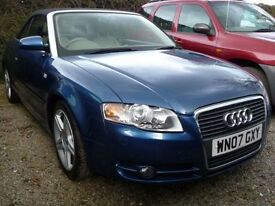 AUDI A4 2.0 TDI SPORT 2d 141 BHP NOW REDUCED BY £500 (blue) 2007