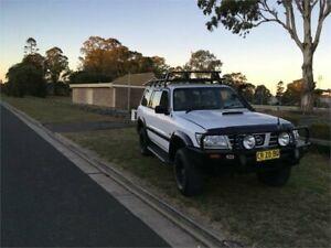 2002 Nissan Patrol GU III MY2002 DX White Manual Wagon Ingleburn Campbelltown Area Preview