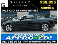 2011 Audi S5 Cabriolet AWD $309 bi-weekly APPLY NOW DRIVE NOW