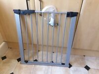 Grey stair gate good condition