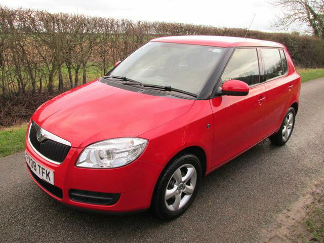 2008 skoda fabia 1 2 htp 5 door red only 57 300 miles 1 previous owner fsh in lincoln. Black Bedroom Furniture Sets. Home Design Ideas