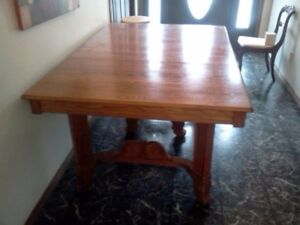 old oak table 4chairs