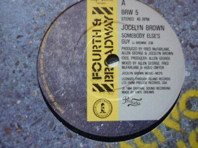 jocelyn brown somebody elses guy 4th & broadway  45 soul