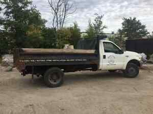 1999 Ford 550 4x4 with 11' x 8' dump Cambridge Kitchener Area image 2