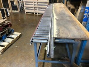 15' Steel saw table with rollers