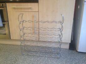 Metal wine rack - modular - 6 x 6 rows - easy to assemble / change vgc