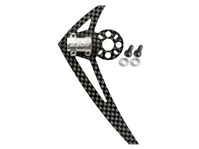Microheli Blade 200 S 230 S 250 CFX Silver Tail Motor Mount W/ Fin MH-230S025G