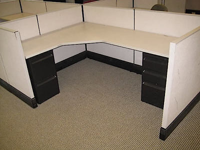 Used Office Cubicles Herman Miller Ao3 7x5 Cubicles