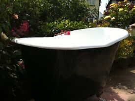 Stunning extra deep and wide cast iron slipper bath. Brand New