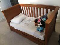Solid Oak Cot-bed - Mamas and Papas