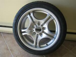 1 Bmw oem style 68 M series mag brand new with tire 245 45 17