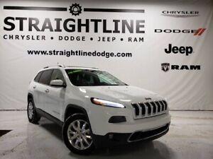 2016 Jeep Cherokee Limited, Luxury Group, Panoramic Sunroof, Tra