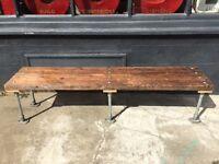 Reclaimed Scaffold Garden Bench