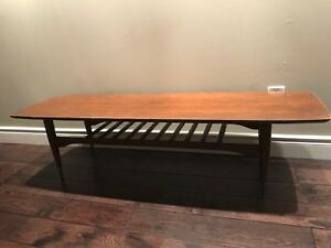 Vintage Teak Coffee Table Mid Century Modern