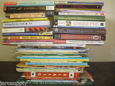 Lot of 15 Newberry Caldecott Winning Award AR RL Kid Children Books MIX UNSORTED