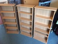 DVD/CD/ console games storage units x 3 in beech effect wood