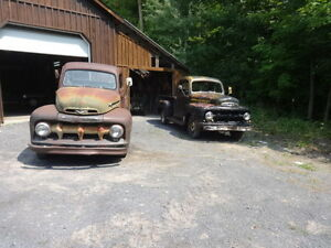 1952 Ford f100 and 1951 Mercury M100