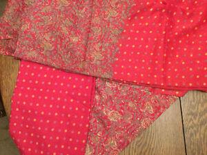 Paisley and dotted fine Saree fabrics (3 pieces) Cambridge Kitchener Area image 1