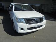 2013 Toyota Hilux TGN16R MY12 Workmate Glacier White 5 Speed Manual Cab Chassis Belmore Canterbury Area Preview
