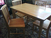 solid wood dining table + 4 chairs BARGAIN